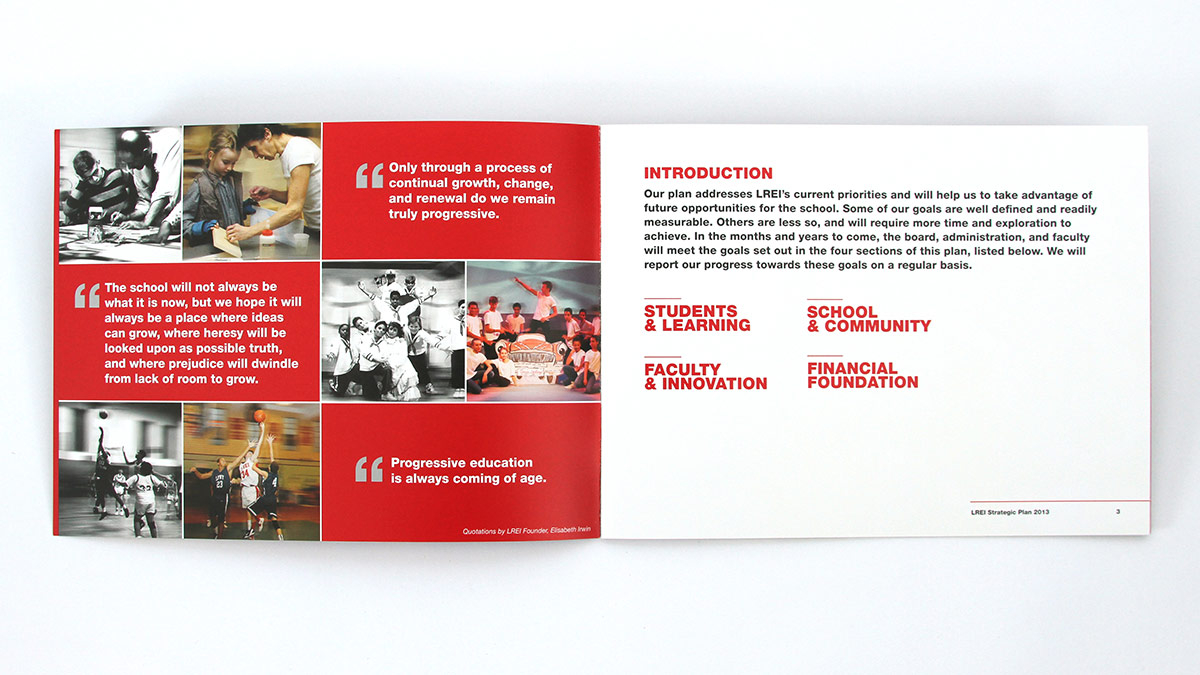 LREI - School Capital Campaign Brochure by Trillion Creative