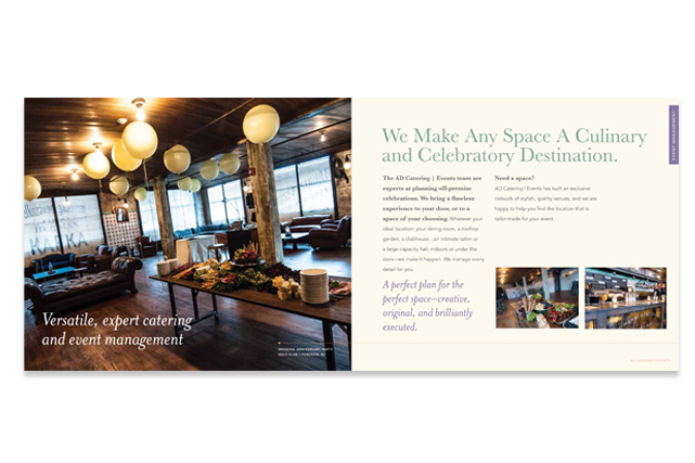 AD Catering & Events catering brochure
