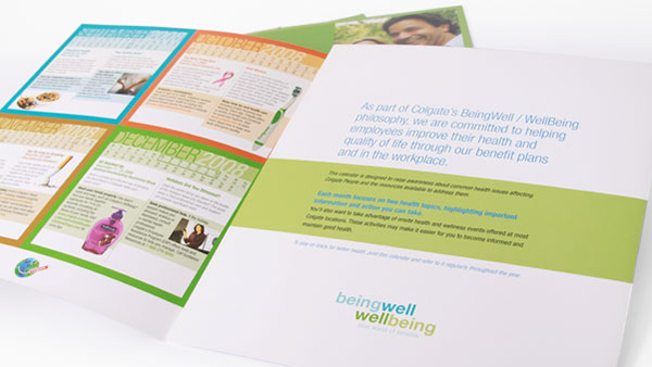 Health Calendar Design : Employee wellness calendar design trillion creative