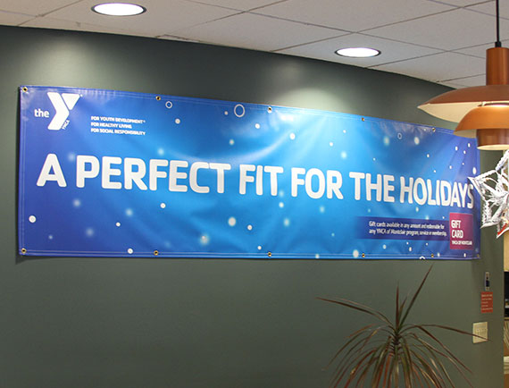 Banner Design Holiday Promotion Campaign Montclair YMCA