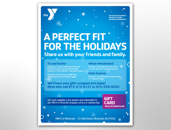 Flyer Design Holiday Promotion Campaign Montclair YMCA