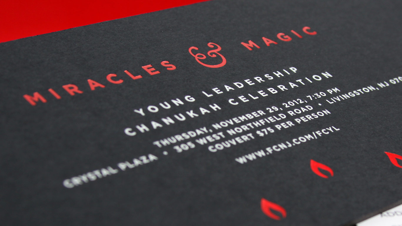 Letterpress and foil stamped invitation design on black board non profit event branding invitation 2 stopboris Image collections
