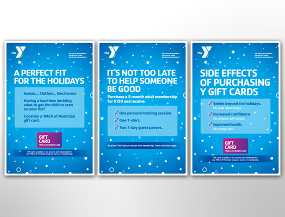 Poster Design Holiday Promotion Campaign Montclair YMCA