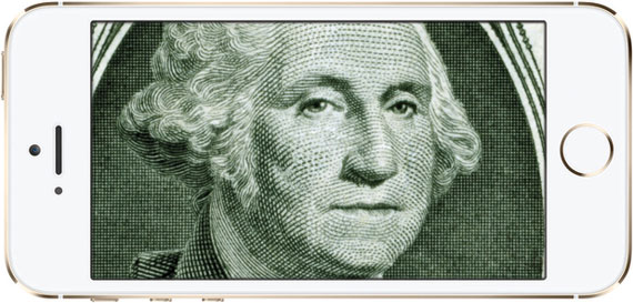 Presidents Day George Washington on iPhone