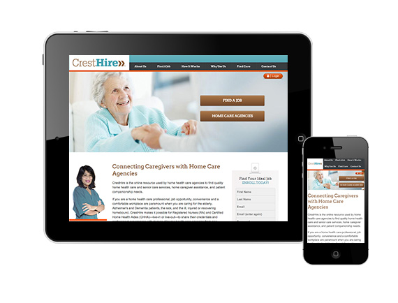 Unique caregivers portal gets rebranding and responsive website design by Trillion