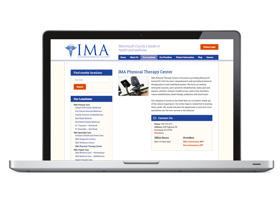 IMA Medical Group Website Location Page