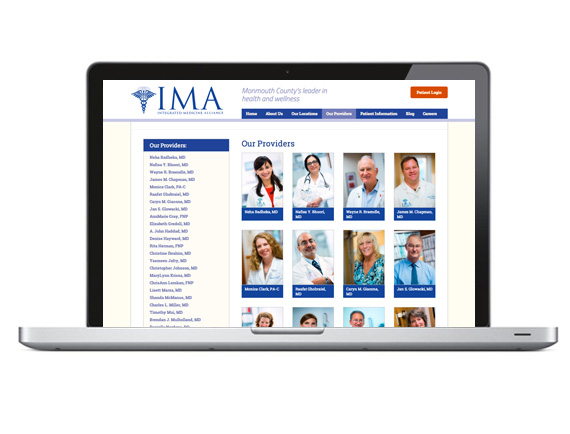 IMA Medical Group Website Physicians Page