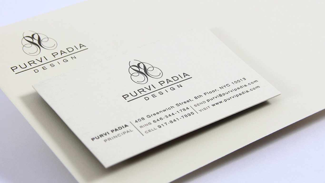 Interior design branding stationery and business card