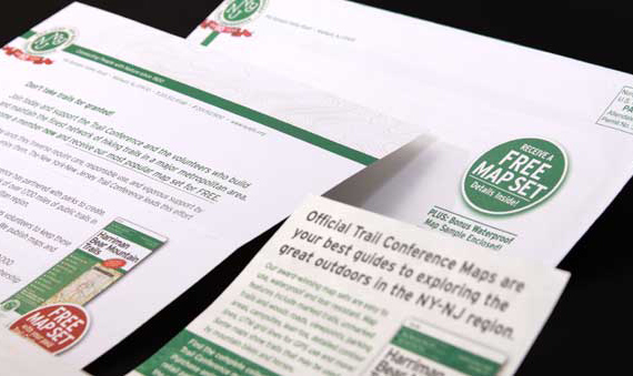 Membership appeal mailing for not for profit organization NY-NJ Trail Conference