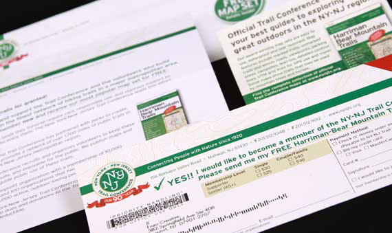 Not for profit appeal letter with responsive card for NY-NJ Trail Conference