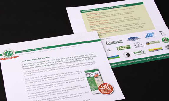 NY-NJ Trail Confererence appeal letter direct mail marketing