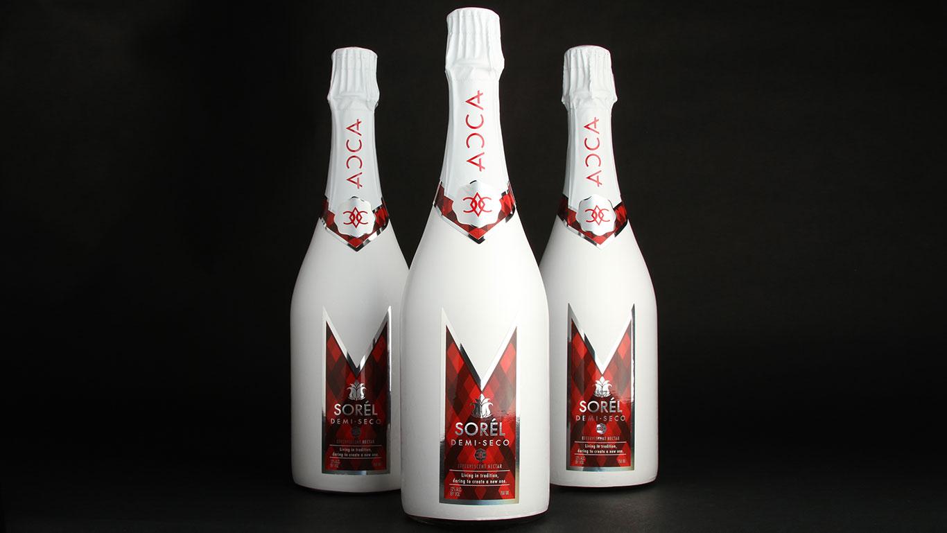 Champagne Wine Bottle Label Design Trillion Creative