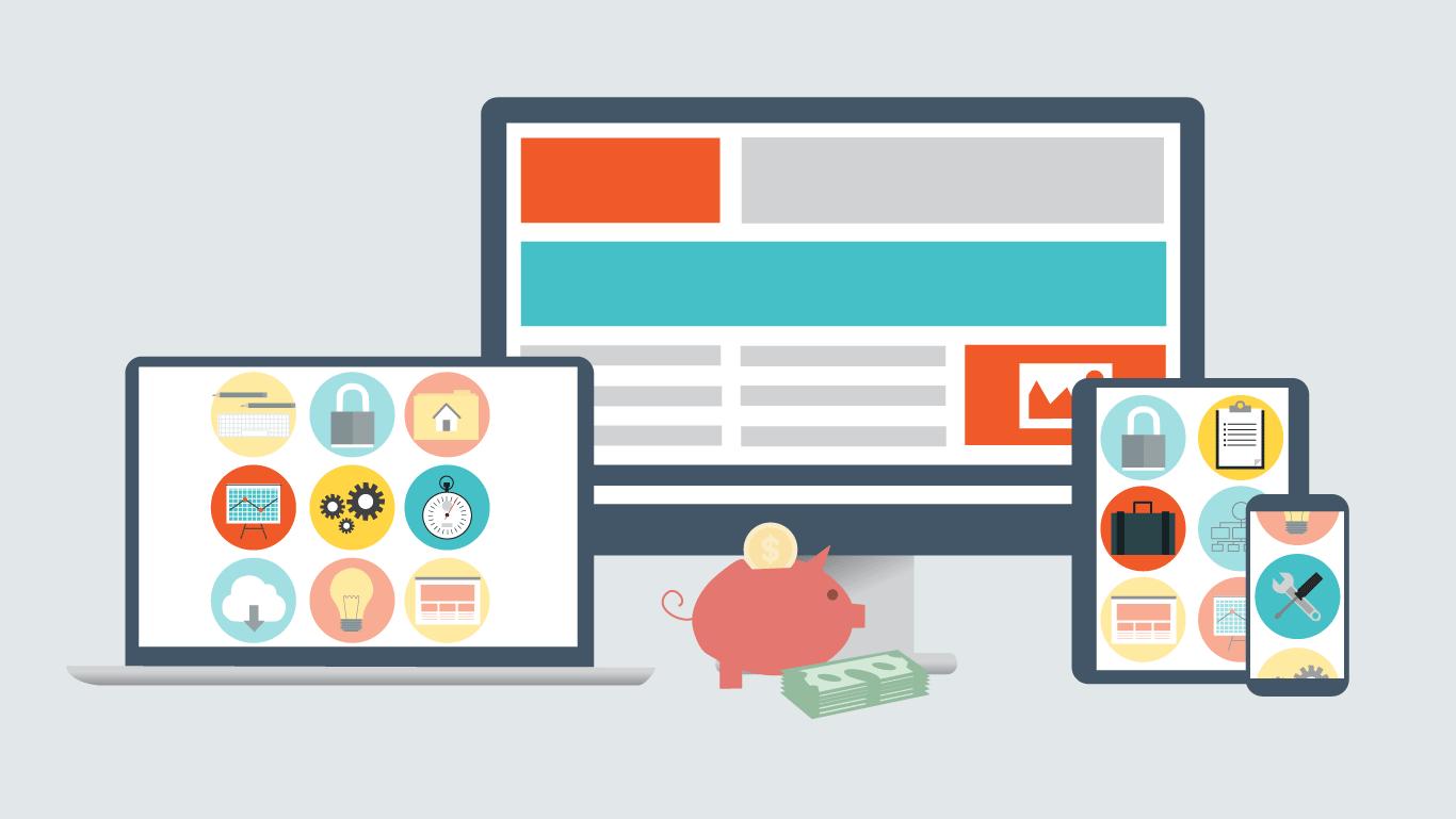 Custom illustrators in NJ: Illustration showing website design costs