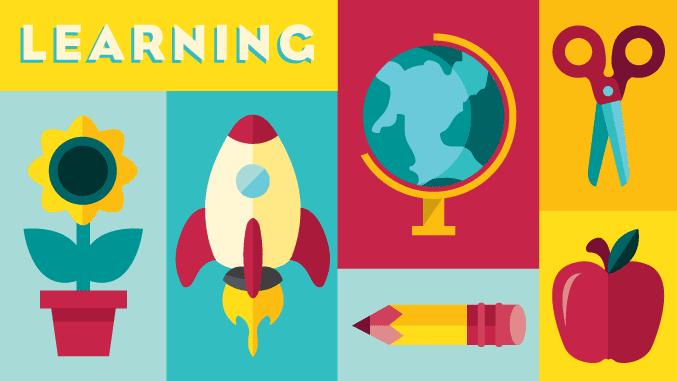 Custom illustrators in NJ: Illustration showing school icons