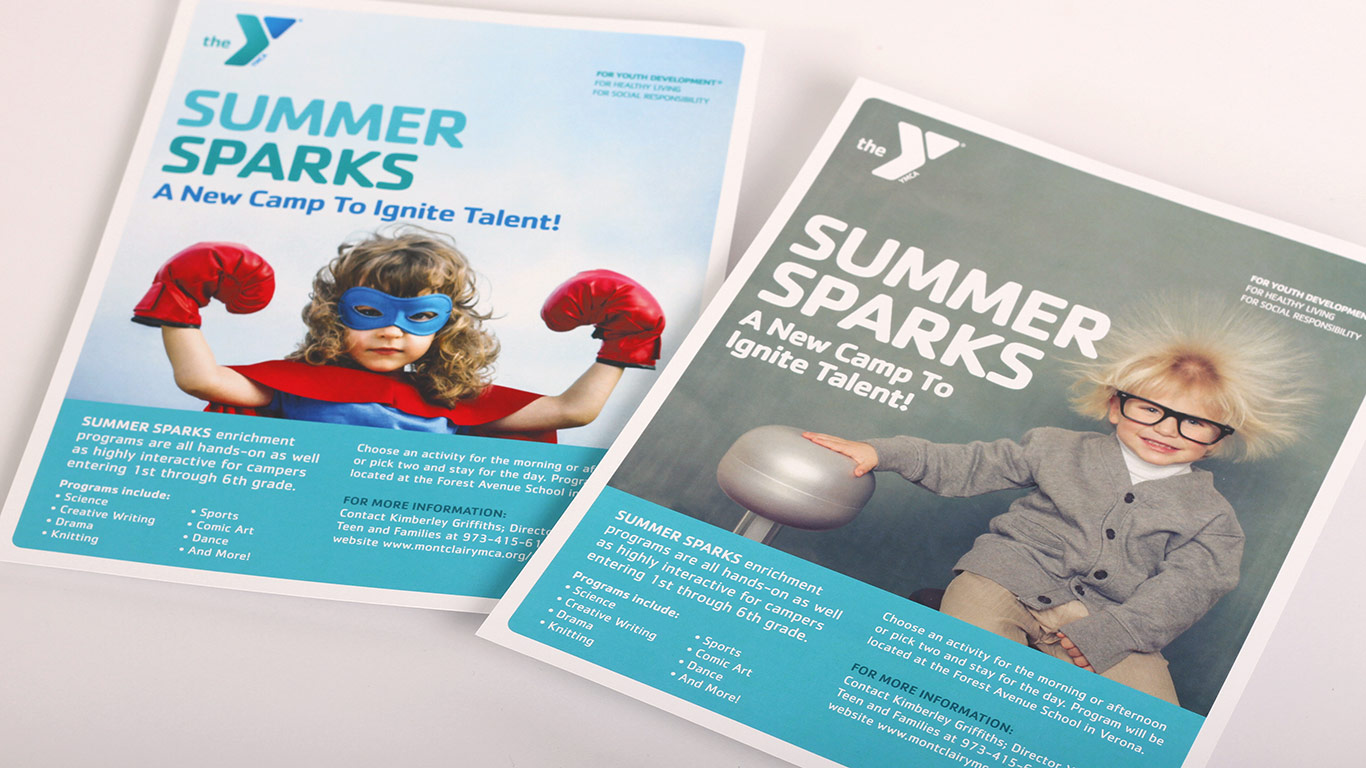 Summer camp flyers for YMCA of Montclair