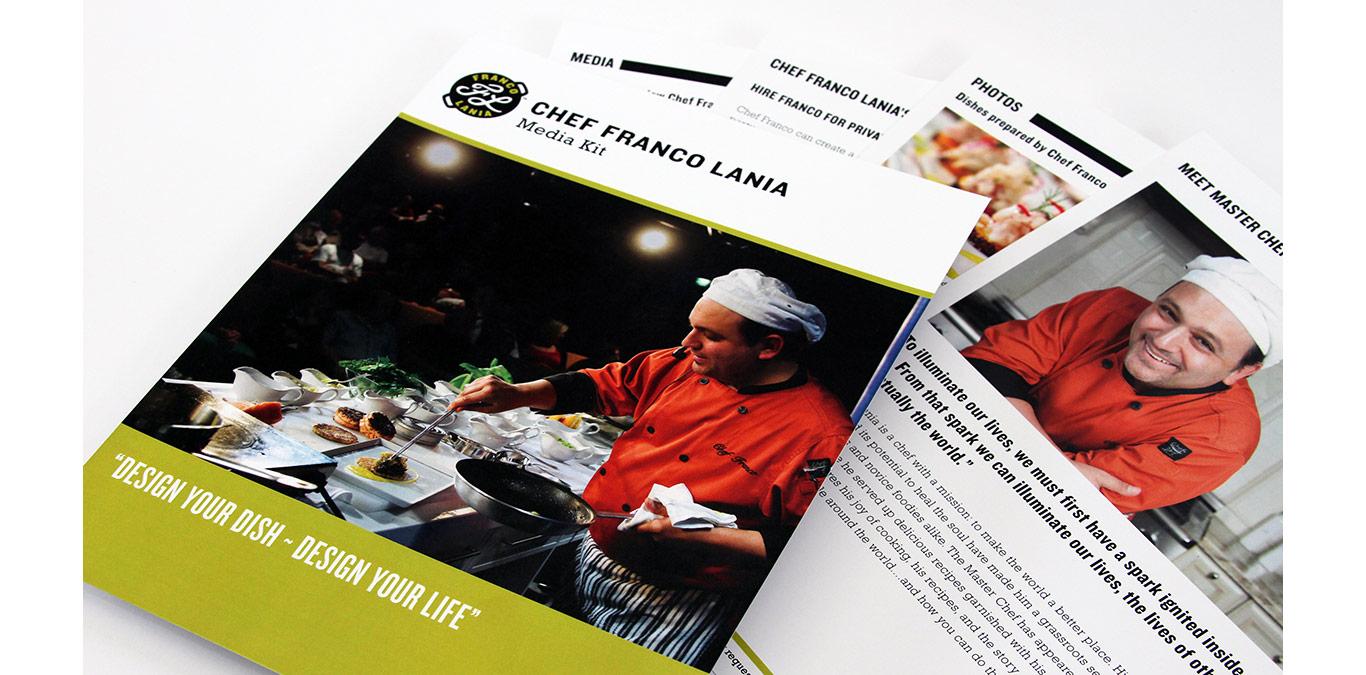Celebrity Chef press kit design