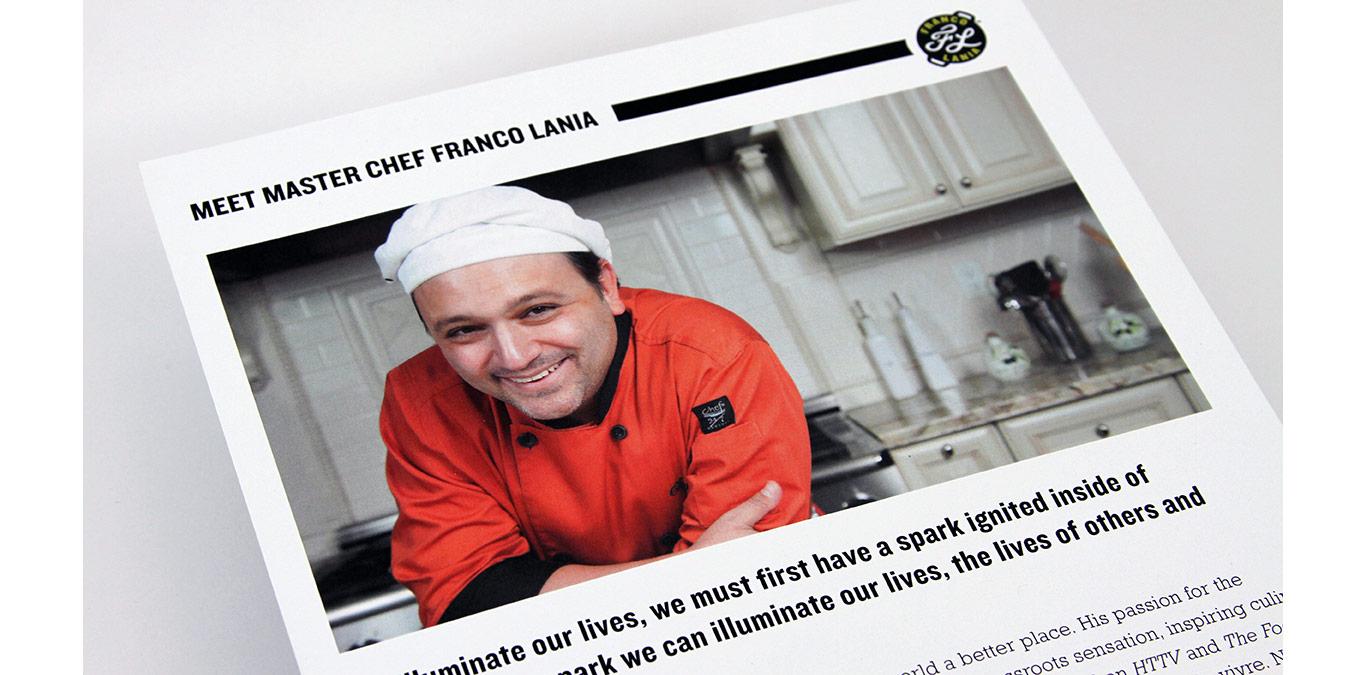 Celebrity Chef press kit design detail