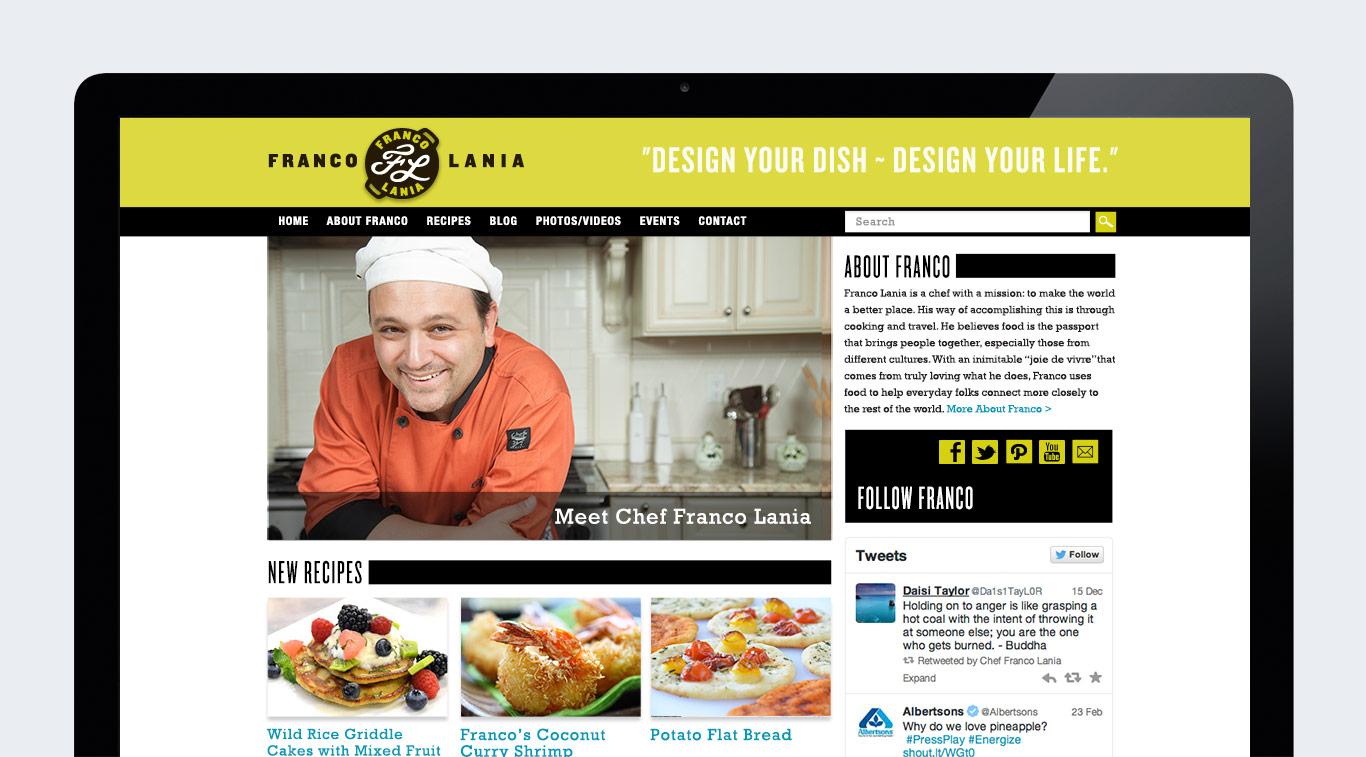 Gourmet Chef cooking blog website homepage design