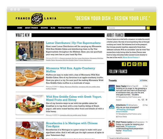 Gourmet Chef cooking blog website design