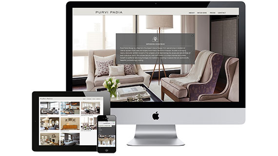 Award-winning Interior Designer website design Purvi Padia
