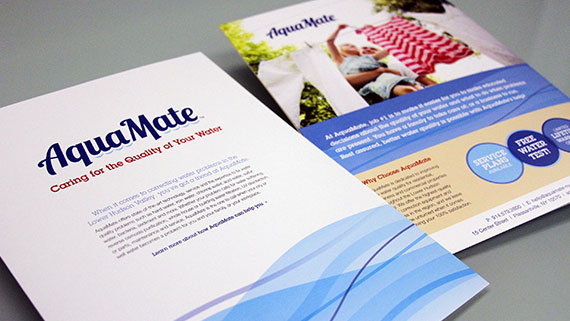 water conditioning company brochure for AquaMate in NY