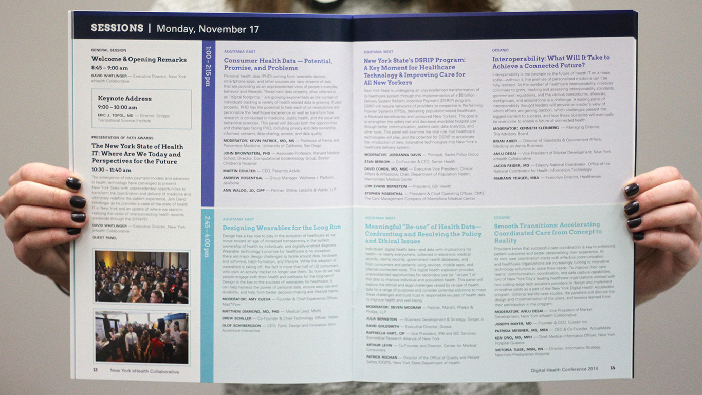 Event Program Detail Page – Digital Health Conference – Conference Event Branding