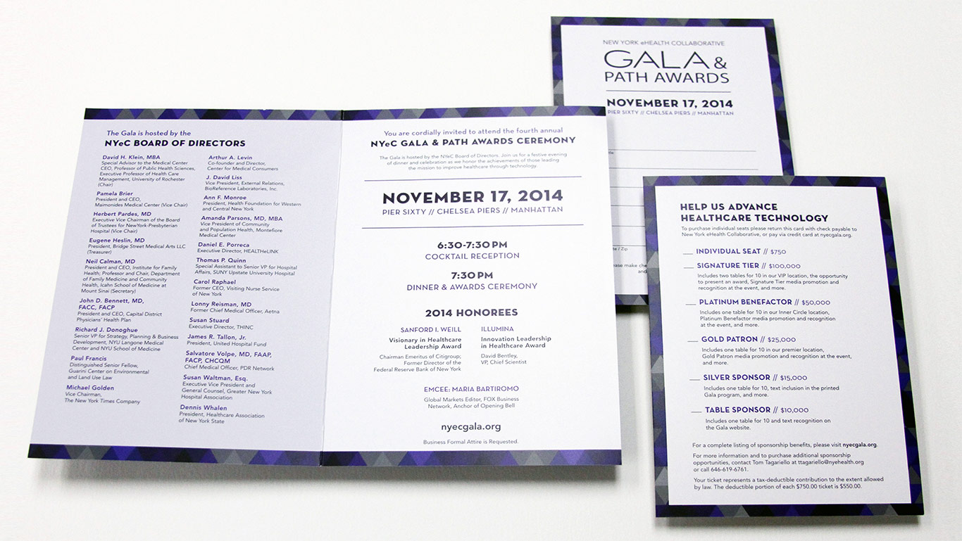 Not For Profit Healthcare Gala Invitation Design