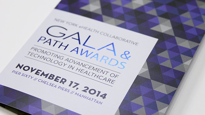 Front Cover – Not For Profit Healthcare Gala Invitation Design