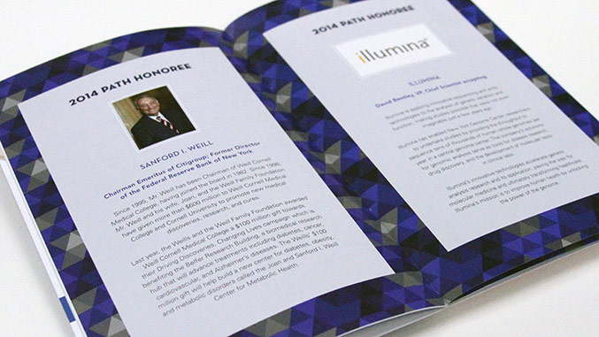 Program Honoree Detail Page – Not For Profit Healthcare Gala Invitation Design