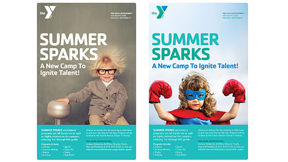 YMCA poster designs for summer camp