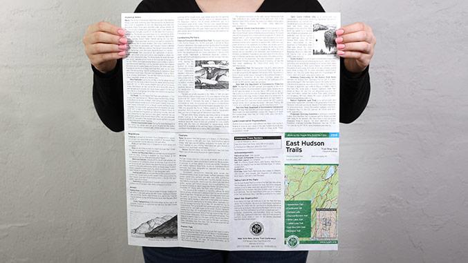 East Hudson Trail Map Back Panel – Not for Profit Publication Design
