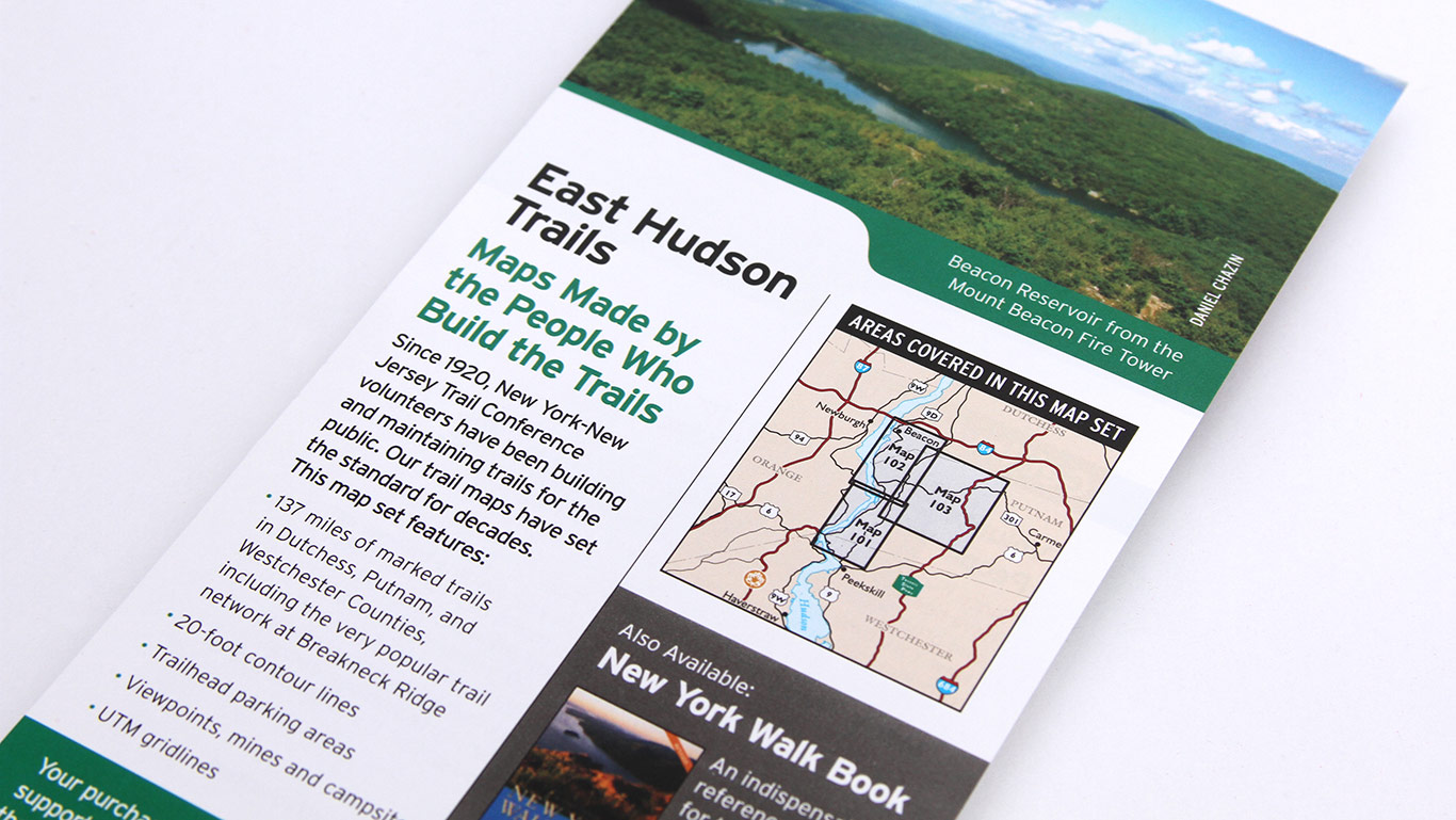 East Hudson Trail Map Back Cover – Not for Profit Publication Design