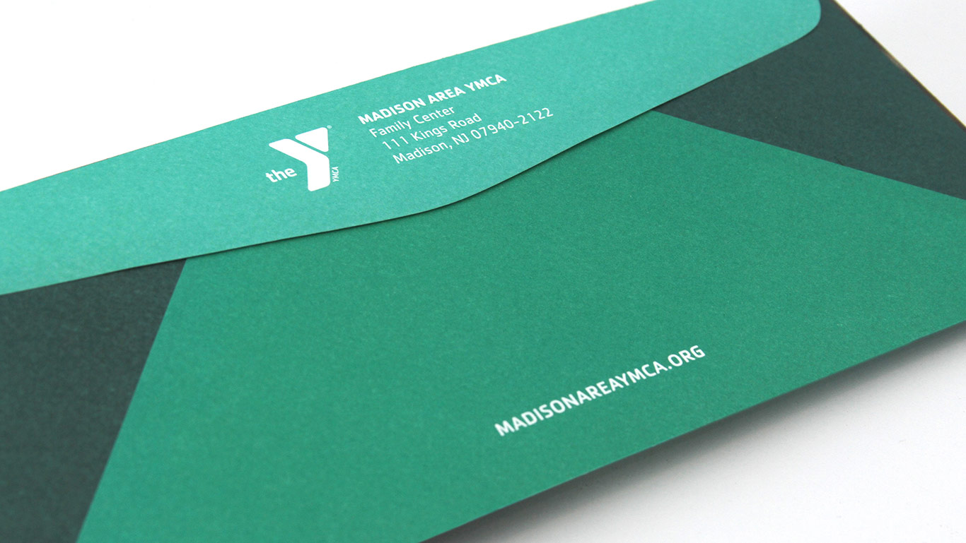 YMCA Outer Envelope Detail – Not for profit direct mail campaign – Annual appeal designer