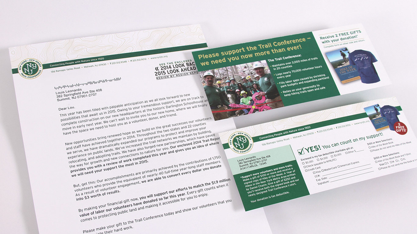 Key Stand Designs : New york jersey trail conference annual appeal design
