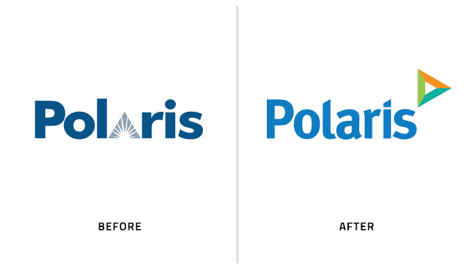 Rebranding, before and after corporate logo design