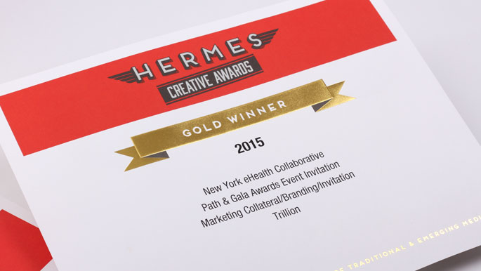 gold winner graphic design award for Hermes Creative Awards