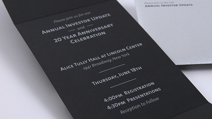 Hedge Fund Event Invitation Designer