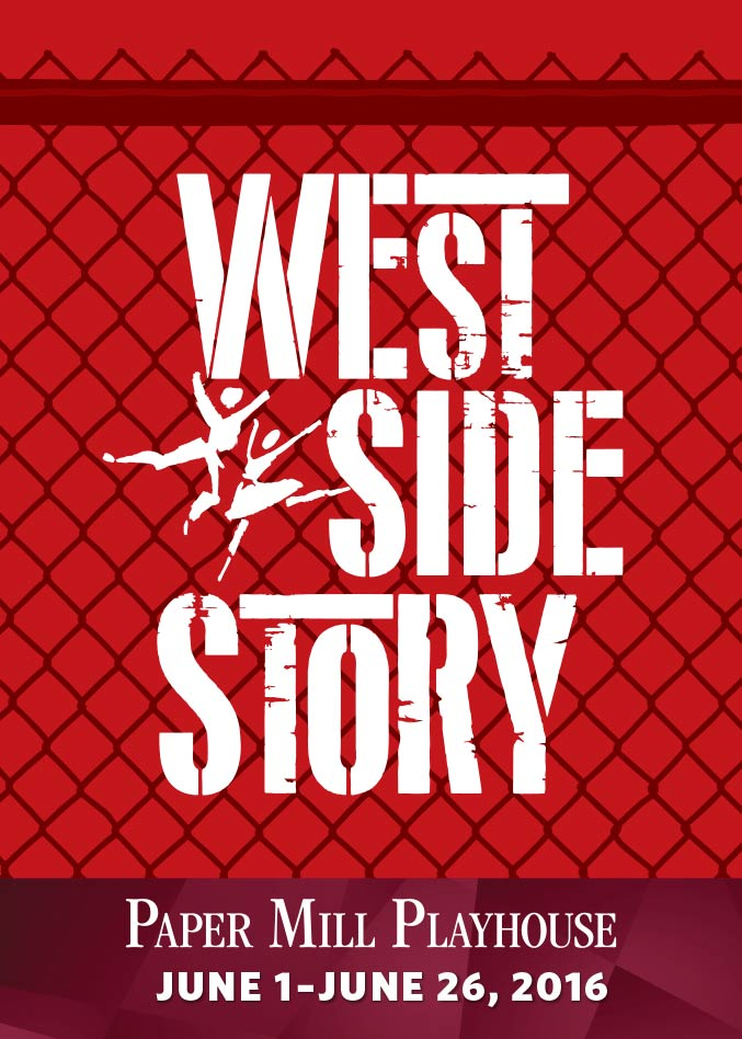 Theater poster design and branding for the West Side Story at Paper Mill Playhouse