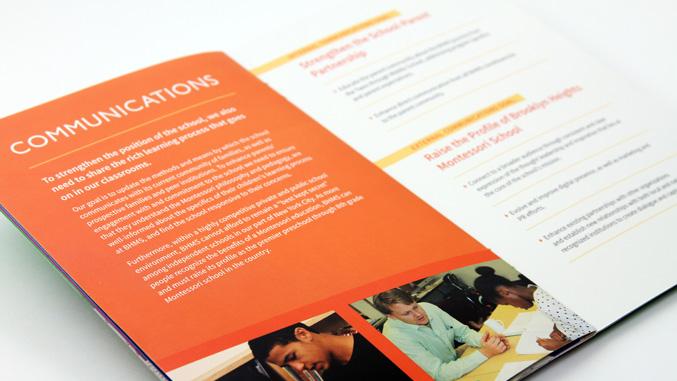 Brochure spread from BHMS strategic plan booklet