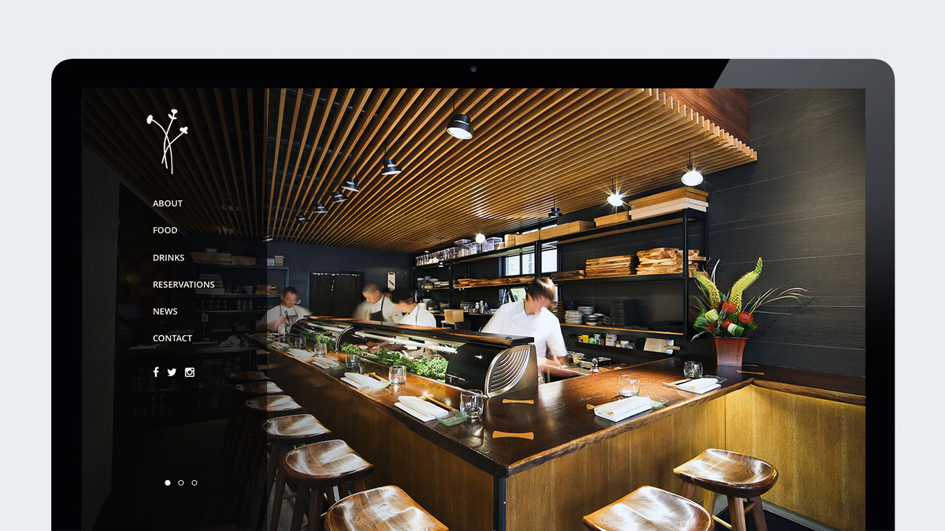Akikos restaurant responsive website design trillion