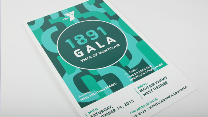 YMCA 1891 gala event poster