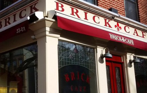 Restaurant logo designer. Restaurant logo designer for Brick Café in Astoria, New York City.