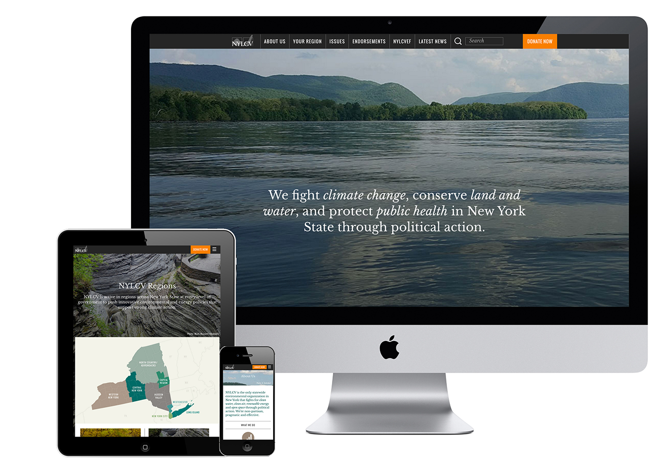 Environmental Website Design New York League Conservation Voters