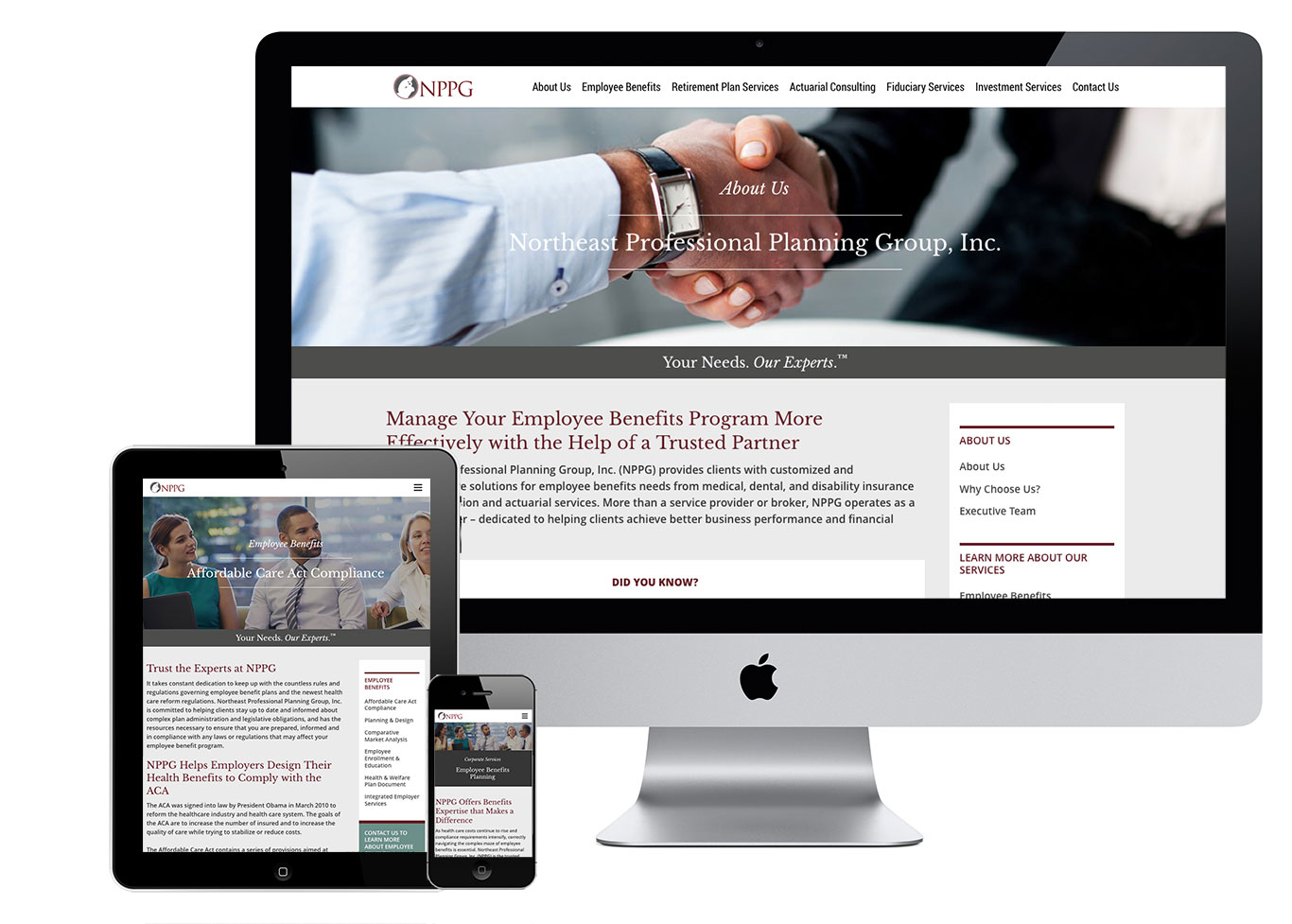 NPPG financial services, responsive website design adapts to any device