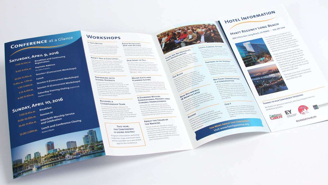 nonprofit conference brochure design company trillion creative