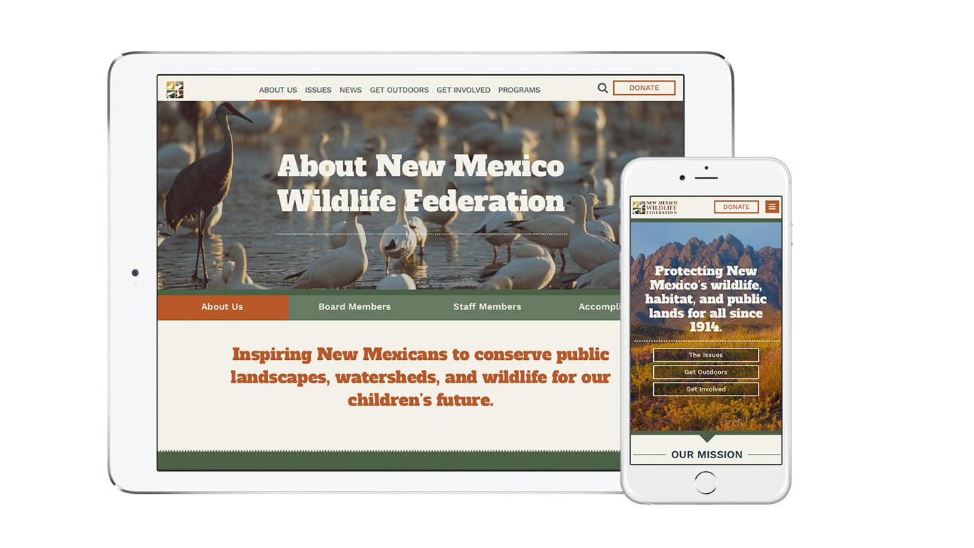 New Mexico Wildlife Federation responsive website