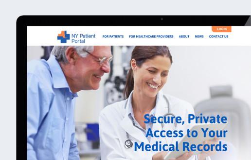 New York state healthcare patient portal website design