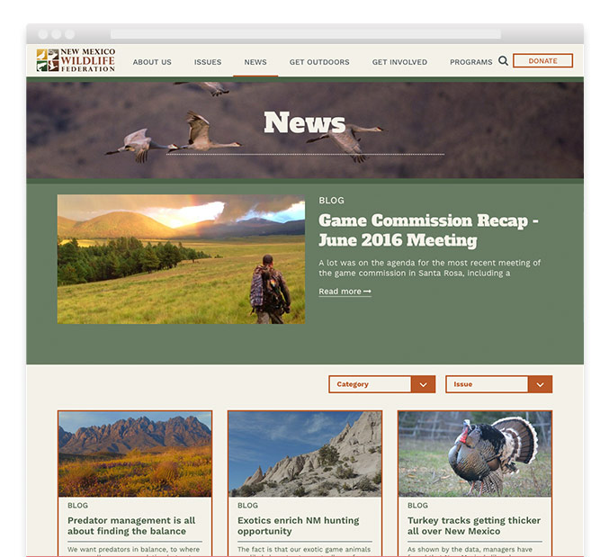 NM Wildlife Federation nonprofit website news page