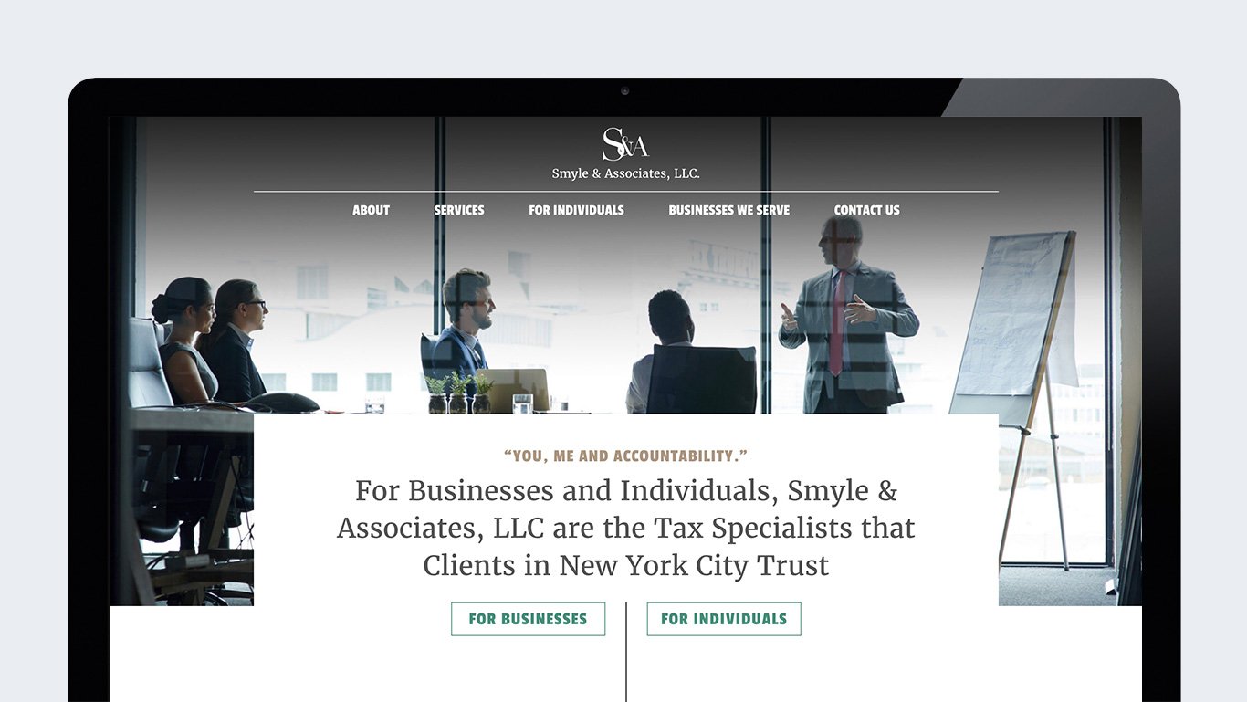Smyle and Associates Accounting Firm Web Design – Trillion Creative