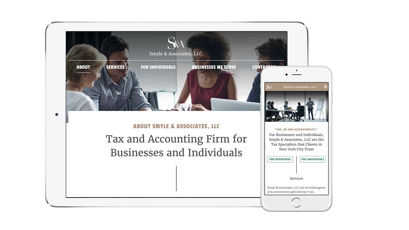 Smyle and Associates Accounting Firm Web Design ipad and iphone Devices – Trillion Creative